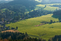 Jetrichovice meadows Stock Photography