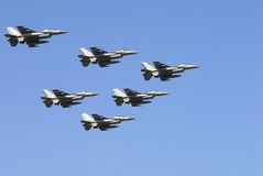 Jets. Training flight of fighter jets on display Royalty Free Stock Photography