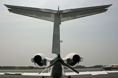 Jets. Back of small jet aircraft Royalty Free Stock Image