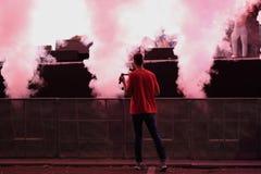 Jets de fumée du générateur photo libre de droits
