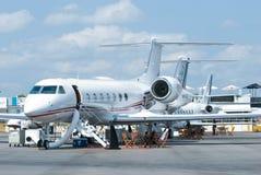 Jets del asunto de Gulfstream en Singapur Airshow Imagen de archivo