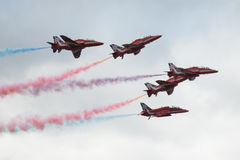 Jets del T1 del halcón en cierre del salón aeronáutico para arriba Imagen de archivo libre de regalías