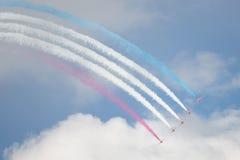 Jets del T1 del halcón en salón aeronáutico Imagen de archivo libre de regalías