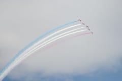 Jets del T1 del halcón en salón aeronáutico Foto de archivo libre de regalías