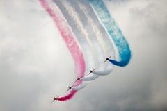 Jets del T1 del halcón en salón aeronáutico Fotos de archivo libres de regalías