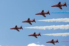 Jets del T1 del halcón en salón aeronáutico Fotos de archivo