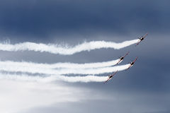 Jets formation on the sky Stock Photos