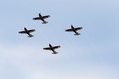 Jets formation on the sky Royalty Free Stock Images