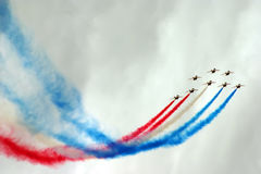 Jets Formation With Color Smoke Royalty Free Stock Photography