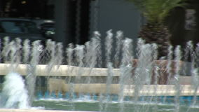 The jets of a fountain in the center of Varna, Bulgaria stock video