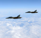 Jets at high altitude Stock Photography