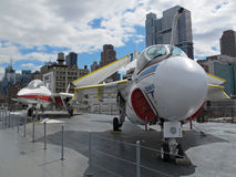 Jets on Intrepid Royalty Free Stock Photo