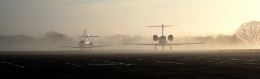 Jets in the mist Royalty Free Stock Photo