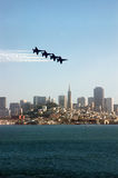 Jets over San Francisco Royalty Free Stock Photo