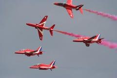 Jets rojos de la flecha Fotografía de archivo libre de regalías