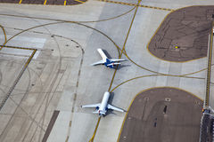 Jets on Taxiway Stock Photography