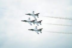 jets thunderbirden Royaltyfri Foto