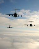 Jets tijdens de vlucht Stock Foto