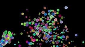 Jets von bunten Blumen stock abbildung