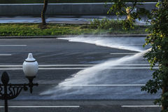 Jets of water from sprinklers Stock Photography