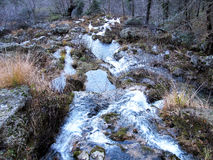 The Jets of the World River in Sierra de Alcaraz, Albacete. Andalusia. Spain Stock Image
