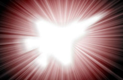 Jetsilhouet, moderne vechter in de hemel royalty-vrije illustratie
