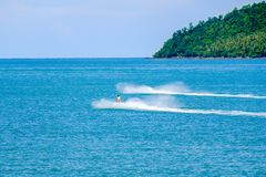 Jetski é um esporte de água popular Foto de Stock Royalty Free