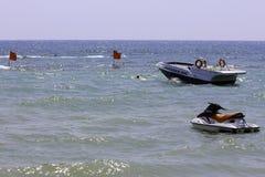 Jetski и быстроходный катер Стоковое Изображение RF