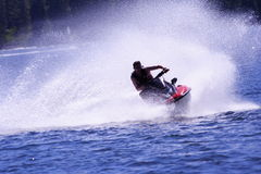 Jetski. On Shaver Lake CA stock photos