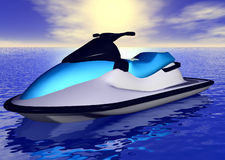 Jetski illustration de vecteur