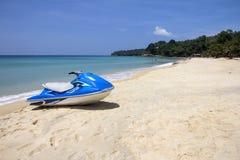 Jetski on beach-L Royalty Free Stock Image