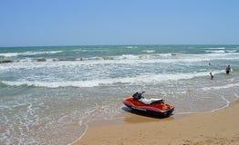 Jetski On The Beach Stock Photos