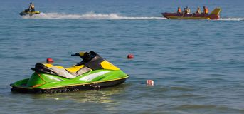 Jetski on the beach Royalty Free Stock Photography