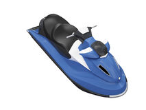 Jetski blue isolated front view Royalty Free Stock Image