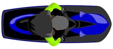 Jetski do Aqua com vista superior isolada cavaleiro ilustração royalty free