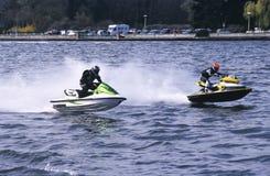 Jetski duo speed Royalty Free Stock Photo