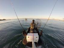 Jetski fishing Stock Image
