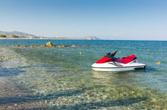 Jetski on the Greek beach Stock Images