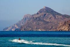 Jetski at high speed sailing at sea Stock Images