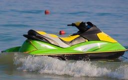 Jetski na praia Fotografia de Stock Royalty Free
