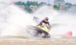 Jetski Northeastern Thailand Championship 2015. KHON KAEN THAILAND - SEPTEMBER 13: Unidentified jet ski racer in race: Jetski Northeastern Thailand Championship Royalty Free Stock Image