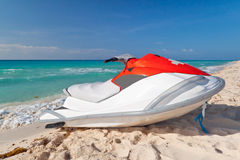 Jetski orange de sauvetage Photographie stock libre de droits