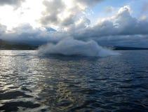 Jetski p? havet Hastighet och adrenalin arkivbilder