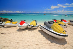 Jetski on Paradise Island beach Royalty Free Stock Photography