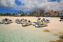 Jetski on Paradise Island beach Stock Images