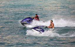 Jetski ride in Dubai Royalty Free Stock Photos
