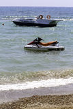 Jetski and a speedboat. For parasailing and holiday fun Royalty Free Stock Photos