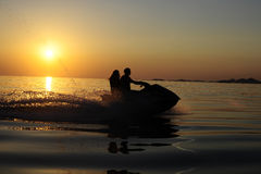 Jetski sunset Royalty Free Stock Photos