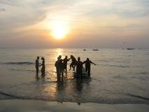 Jetski during sunset Stock Photos