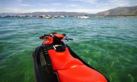jetski Tahoe湖 库存照片
